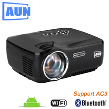 AUN AM01P LED Projector Support 1920x1080. with Android, WIFI, Bluetooth. 3D Beamer for Home Cinema Free HDMI Cable, 3D Glasses(China)