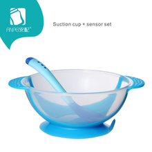 Baby Learning Dishes With Suction Cup Food Bowl Spoon Tableware Set Feeding Lid Training Cartoon Binaural Children Plate Sucker(China)