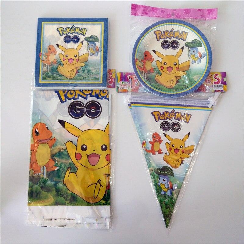 42pcslot Kids Favors Pikachu Napkins Baby Shower Party