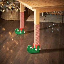 4PCS Christmas Chair Table Leg Socks Prevent Scraping Holiday Decorations Gift(China)