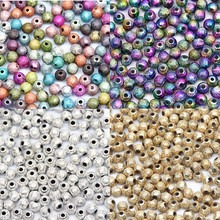 Buy Mixed/Silver/Gold/Rainbow Scrub Acrylic Ball 4/6/8/10/12/20mm Spacer Beads Charms Findings Jewelry Making Craft DIY for $1.43 in AliExpress store