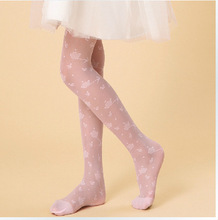 2015 Summer Thin Transparent Butterfly Flower Children Jacquard Silk Stockings Cored Wire Pantyhose Girls Boutique Boxed on Sale