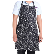 Hotels chef Waiter Halter Neck Apron  Black white lattice Bust apron 12 Styles