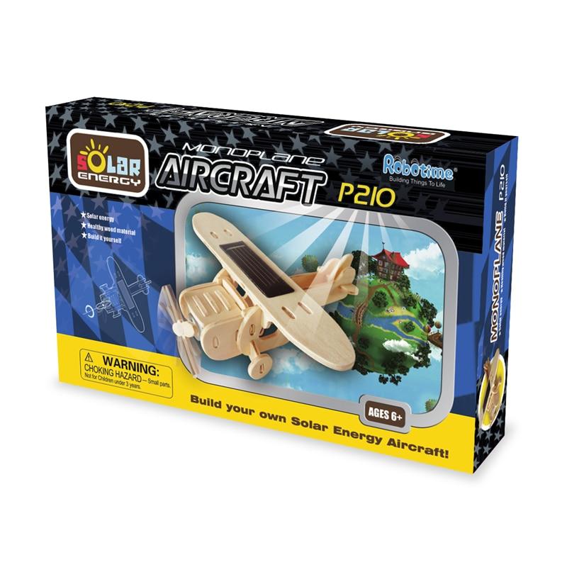 Robud 11 Kinds Solar Energy Powered Plane 3D Wooden Model Building Popular Creative Toys Hobbies Gift for Children,Teens P250 31