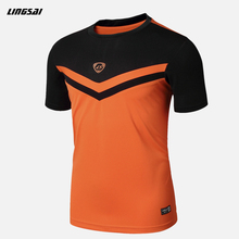 LINGSAI Summer Men Short Sleeve Compression T Shirt Quick Dry Fitness Slim Fit T-shirt Sports Tops & Tees Soccer Jerseys M-XXL
