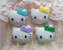 Min.$15 (Mixed Order) 5pcs per lot Cell Phone Case DIY Charms Resin Cat Hello Kitty KT Decoration