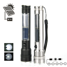 Super Bright 3W USB Solar ReCharging XPE LED Flashlight Work Light Mobile Power Outdoor Camping Lighting , 2 Color