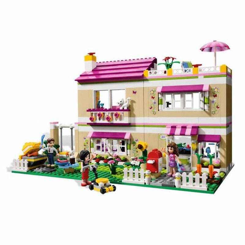 Bela 10164 Olivias House Building Bricks Blocks Toys For Children Girl Game Castle Gift  Compatiable With Legoe Friends 3315 <br>