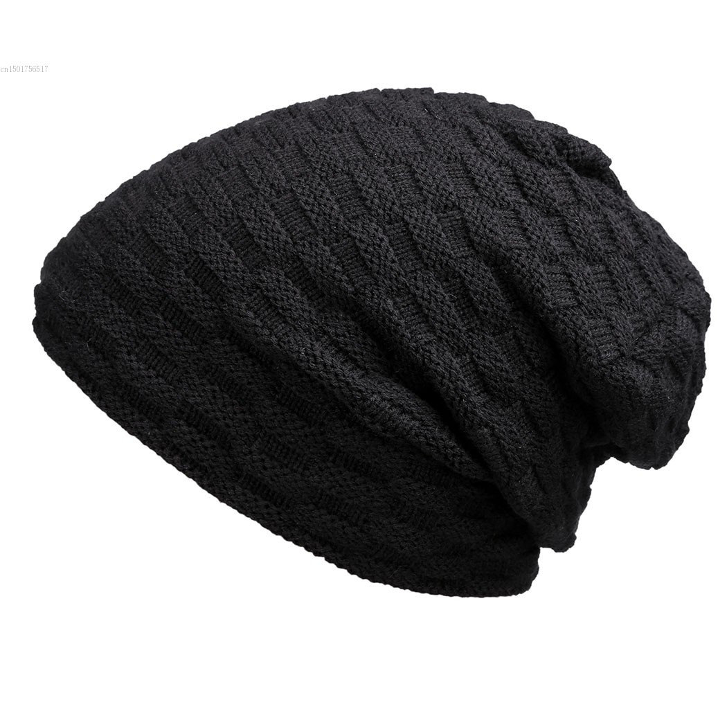 Unisex Men Women Casual Solid Stretchy Braid Pattern Knitted Beanie Hat Winter Fashion(China (Mainland))