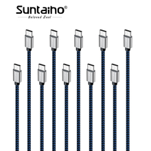 10-Pack Suntaiho USB Type C Cable 25cm 1m 2m 3m Fast Charging Data Cable Xiaomi Samsung s8 OnePlus 2 Nexus 6P USB C cable