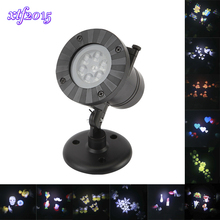 xtf2015 Outdoor LED Laser Stage Chrismas Halloween Decoration Light Snowflake Projector Lights for DJ KTV Bar Party Garden(China)