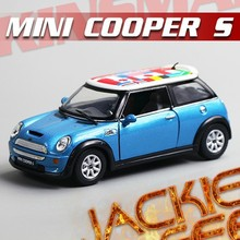 Super 1pc 1:28 12.5cm mini delicate KINSMART bunting MINI cooper pull back simulation model alloy car home decoration gift toy
