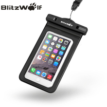 BlitzWolf BW-WB1 Universal IPX8 Waterproof Phone Case Dry Bag Pouch With Clip For All Up To 5.5 Inch Smartphones(China)
