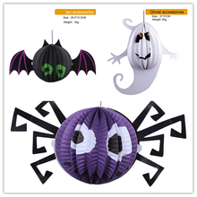 3pcs/Lot Halloween decoration props horror party supplies chinese lanterns ghost pumpkin halloween party paper lantern