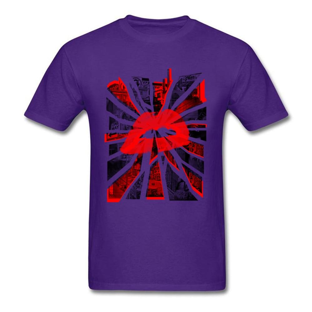 Kisses from the city Unique Short Sleeve Tops T Shirt Summer Crewneck All Cotton Man T Shirt Unique T-shirts 2018 Hot Sale Kisses from the city purple