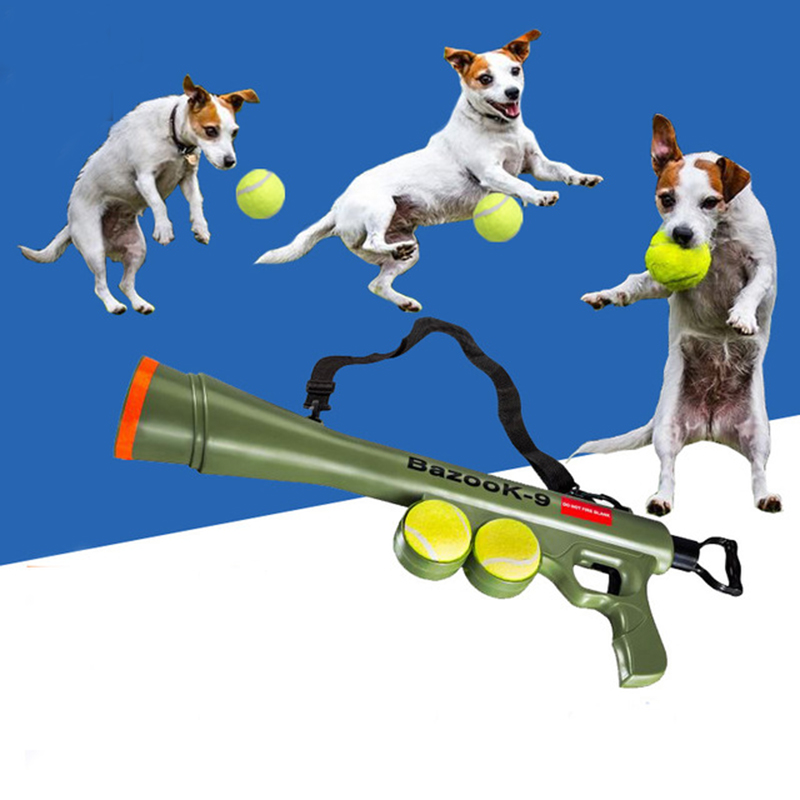 Funny Dog Tennis Ball Launch Gun for AK47 Pet Training Toy Remote Speed Agility Equipment Dog Interactive Toys Pet Shop Supplies6