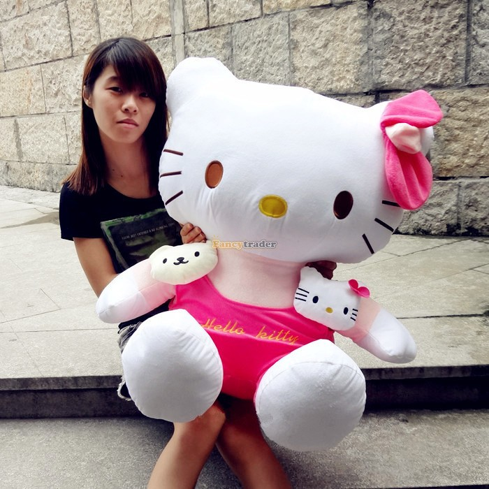 Fancytrader Cute High Quality Hello Kitty Toy 30 75cm Huge Giant Plush Stuffed Hello Kitty, Best Gift! Free Shipping FT90162<br><br>Aliexpress