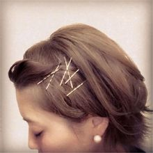High Quality 10pcs Gold Hairpin Bride Hair Pins Wedding Hair Jewelry Bobby Pin Wave Barrette Side Clip Hairpin Sticks Barrette