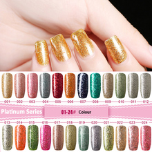 MDSKL Platinum Bright Sparkling Nail Polish Cool Shiny Masonry Oil 24 Color Can Choose Exemption From Postage Gel Coat