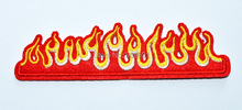 Flames fire retro biker muscle car embroidered applique iron on patch new