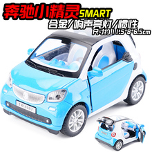 New Smart Fortwo Pull back Car Model 1:24 Original Alloy Car Models Baby Toy Educational Pull Back Gifts For Boys(China)