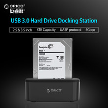 ORICO USB 3.0 to SATA 3.0 External Hard Drive Docking Station for 2.5/3.5 inch HDD/SSD [Support UASP and 8TB ] (6218US3)