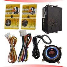 rfid car alarm system  with transponder card arm or disarm engine engine start stop button