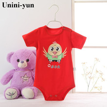 Unini-yun Newborn Romper Infant Short Sleeve Jumpsuits Boys Girl Spring Autumn Clothes Princess Wear Baby Romper Red baby romper