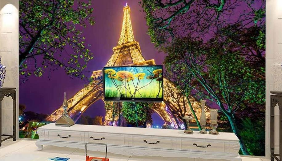 Custom Wallpaper 3D Continental mural Tower landscape TV backdrop simple fashion large mural 3d wall murals wallpaper painting<br>