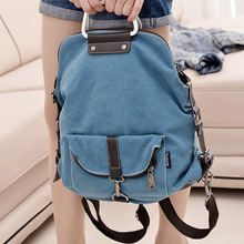 2017 New Fashion Korean Women Backpacks Women's Canvas Shoulder Bags School Bag for Woman Manufacturers Wholesale(China)