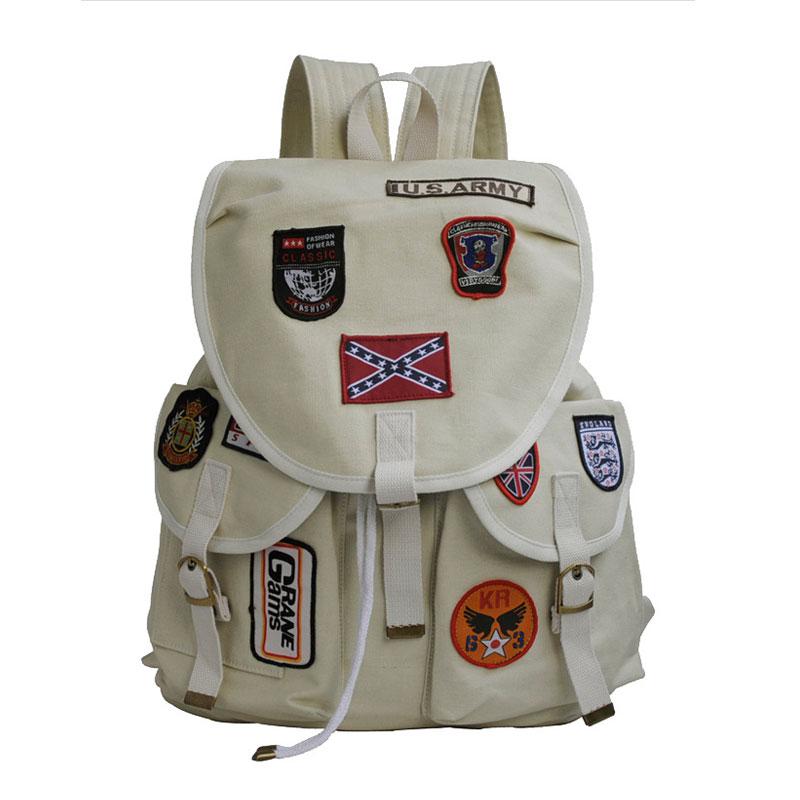 Fashion Women Drawstring Bag Girl School Backpack Female Canvas Badage Bags School Backpacks for Teenage Mochila Feminina B15398<br><br>Aliexpress