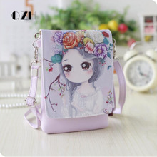 QZH Cartoon cute Women Handbags kids girls Messenger bag Shoulder Bag Party Handbag for baby girl kindergarten gift