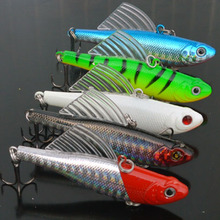 5pcs 13.5g 6.4cm winter fishing lures hard bait VIB with lead inside lead fish ice sea fishing tackle swivel jig wobbler lure(China)