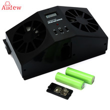 Solar Powered Car Window Fan Auto Ventilator Air Vent Vehicle Radiator vent With Ventilation(China)