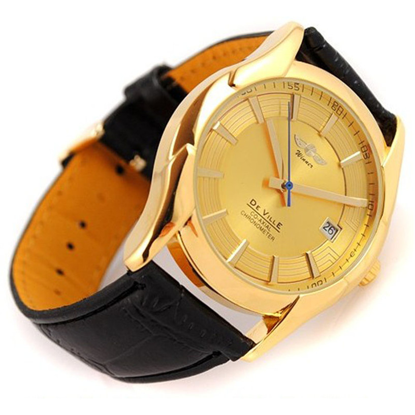 NEW Fabulous Luxury Mens Mechanical Automatic Calendar Leather Band Wrist Watches Watch Drop Shipping #0217<br><br>Aliexpress