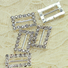square Rhinestone buckle,50pcs/lot,crystal wedding invitations hair decoration accessories,high quality and good service