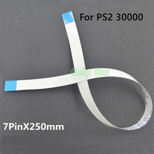 Aipinchun 5Pcs/Lot Replacement 7Pin 250mm Power On Off Reset Switch Flex Ribbon Cable For PS2 30000 300xx Repair Parts