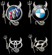 BROSHOO 2pcs/lot MATEL devil personality emblem logo devil 3D car stickers exterior accessories car styling FREE SHIPPING