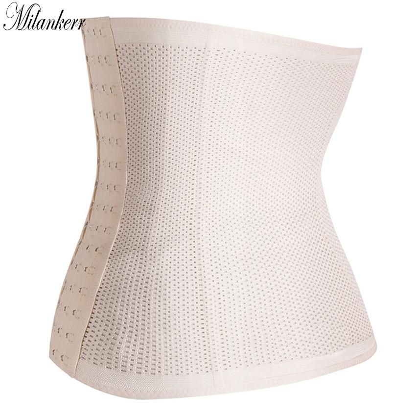 Milankerr Hot Body Shaper Slimming Women Corset Waist Trainer Cinchers Belt Girls Sports Waist Support Slim Hollow Shapewear Plus Size (1)