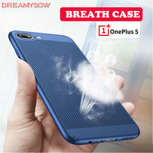 Breathable Case Oneplus 5T 5 1+5T Heat Dissipation Protection Cover Hard PC Case One plus 5 1+5T 1+5 Cooling Phone Shell
