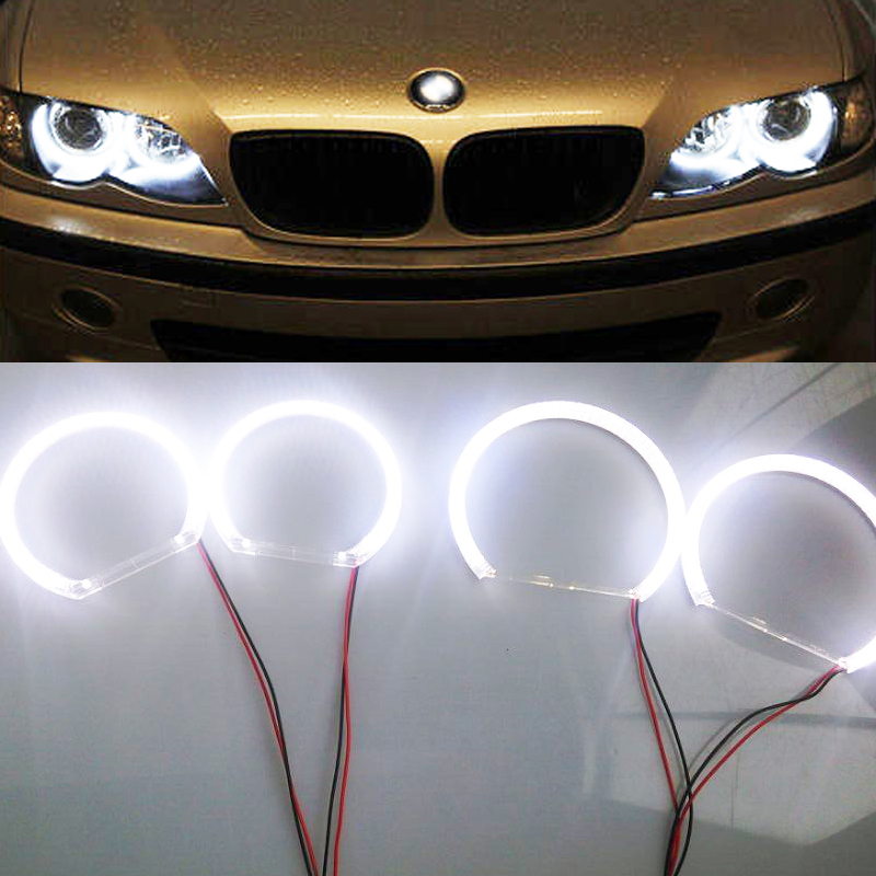 Emark New Car styling SMD headlight angle eyes For E30 E32 E34  4*120mm auto replacement accessory parts <br><br>Aliexpress