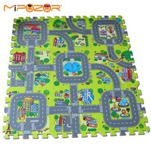 "Mipozor 18pcs/lot City Road EVA Foam puzzle Play Mat Rug Floor Soft Safe Crawling Carpets For Kids Each 30x30cmx1cm 12""x12""(China)"