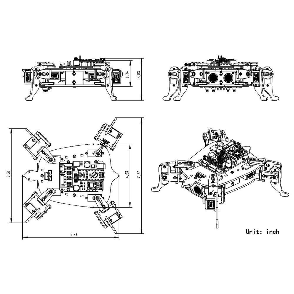 APP Control Toy Robotics Kits (4)