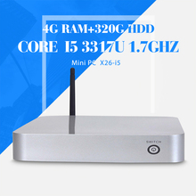 i5 3317u dual core 4g ram 320g hdd+wifi Micro Industrial Pc Desktop Computer Case Fan Mini Station Thin Client  Support HD VIDEO