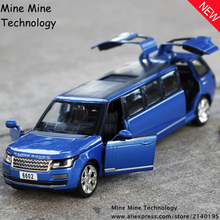 1:32 free shipping Extended range rover Alloy Diecast Car Model Pull Back Toy Car model Electronic Car classical car Kids Toys