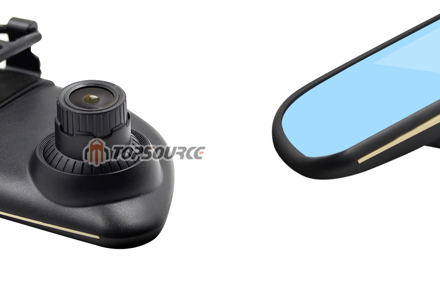 """TOPSOURCE Auto GPS ANDROID 5.0 1G/16G 3G 7"""" IPS Car DVR Mirror Camera Dual Lens 1080P Video Recorder Dash Cam Parking Monitor 12"""