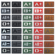 Tactical Military Blood Type Badge Patch A+ B+ AB+ O+ Positive A B AB O + POS A- B- AB- O- NEG - Negative PVC Morale Hook Patch(China)