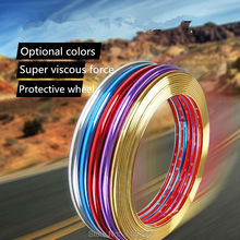 8m car styling chrome protection wheel Rim light frame decoration for Cadillac srx cts ats escalade key emblem sts accessories(China)