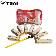 TSAI TB8-1 Infant Baby Music Instrument 8 Notes Wooden Xylophone Early Childhood Kids Music Instrument Best Gifts Fun Toys(China)