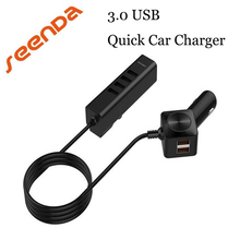 SeenDa For Iphone Mobile Phone Car Charger Multi-function Universally 6in1 Ports USB Car Charger quick charge 3.0 USB Hub(China)
